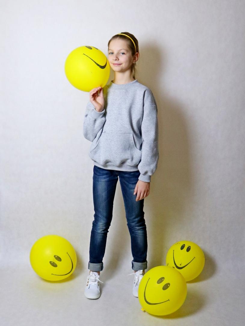 """Толстовка """"свитшот"""" для девочек арт. 17004"""