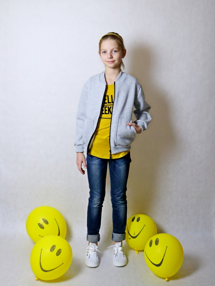 "Толстовка ""бомбер"" для девочек арт. 35003-35004"