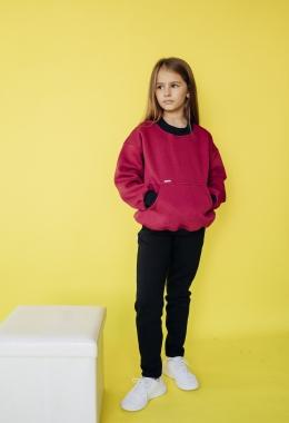 """Толстовка """"свитшот"""" для девочек арт. 17001-17002"""
